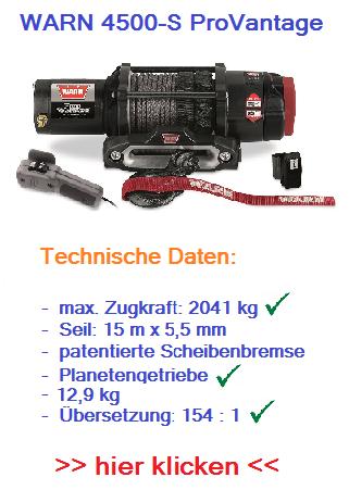 WARN 4500-S ProVantage 12V